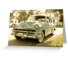 1954 Chevy Powerglide Greeting Card