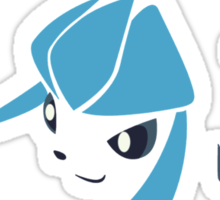 pokemon eevee glaceon chibi anime shirt Sticker