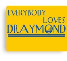 Everybody Loves Draymond Blue Canvas Print