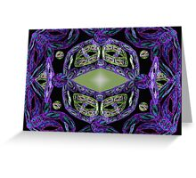 The kaleidoscope abstract Greeting Card