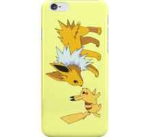 pokemon pikachu jolteon chibi anime shirt iPhone Case/Skin