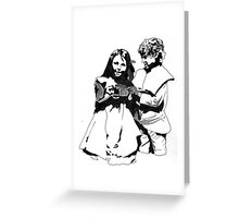 Boy & Girl Greeting Card