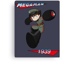 WWII style Mega Man Canvas Print