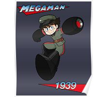 WWII style Mega Man Poster