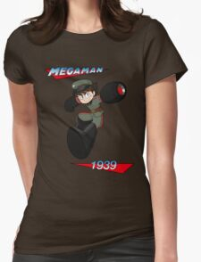 WWII style Mega Man Womens Fitted T-Shirt