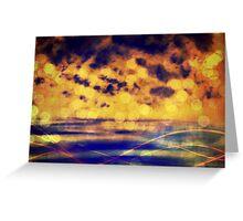 Dusk, digital abstract landscape Greeting Card