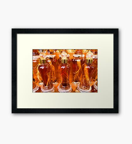 Ginseng Roots - Seoul, South Korea Framed Print