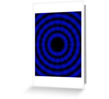 In Circles (Blue Version) Greeting Card
