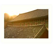 Temple Sunset - Haein Temple, South Korea Art Print
