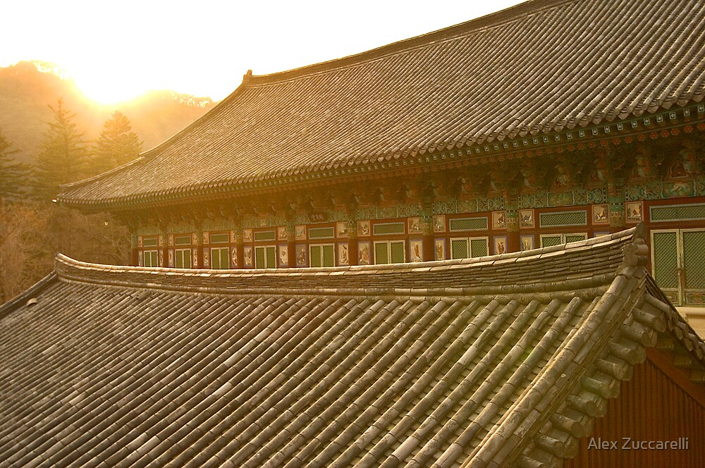 Temple Sunset - Haein Temple, South Korea by Alex Zuccarelli