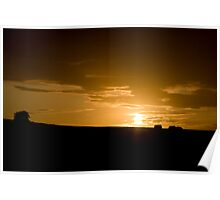 Sunset in County Wexford, Ireland Poster