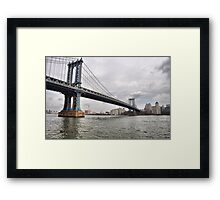 Manhattan Bridge From East River Park Framed Print