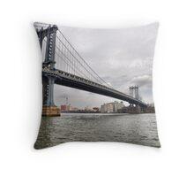 Manhattan Bridge From East River Park Throw Pillow