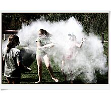 And the fun hit them like a puff of smoke Photographic Print
