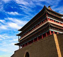 Zhengyangmen Gate - Beijing, China by Alex Zuccarelli