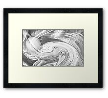 Untitled abstract 132- Black and white- Art + Design products Framed Print