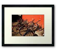 Bicycles - Beijing, China Framed Print