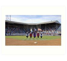 Eugene Emeralds' final game at Civic Stadium, opening ceremony. Art Print