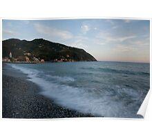 levanto beach, italy Poster
