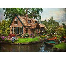 Fairytale House. Giethoorn. Venice of the North Photographic Print