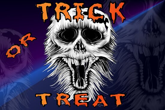 Trick Or Treat Skull by Lotacats
