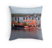 Lifeboat and Inshore rescue boat Throw Pillow