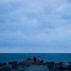levanto beach, italy by Ian Middleton