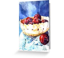 Apples in a stone bowl Greeting Card