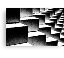 Composition in black and white Canvas Print