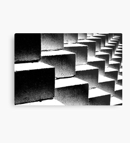 Composition in black and white Metal Print