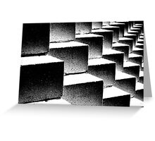Composition in black and white Greeting Card