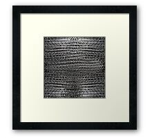 Thick Silver Chain Maille Framed Print