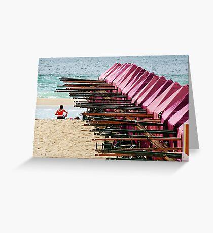 A beach Greeting Card