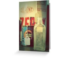 the bottle Greeting Card