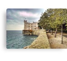 Italian Castle - Miramare Castle Canvas Print