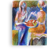 Girls chat Canvas Print