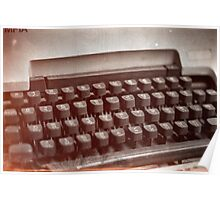 Old type writer Poster