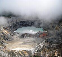 Volcano Poas by Esperanza Gallego