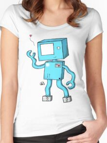 Oh Hai, I'm a Robot! Women's Fitted Scoop T-Shirt