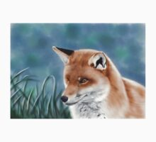 Fox Digital Painting Kids Tee