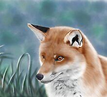 Fox Digital Painting by Gallery11Eleven