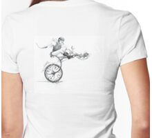 Get On Your Chicken And Ride! Womens Fitted T-Shirt