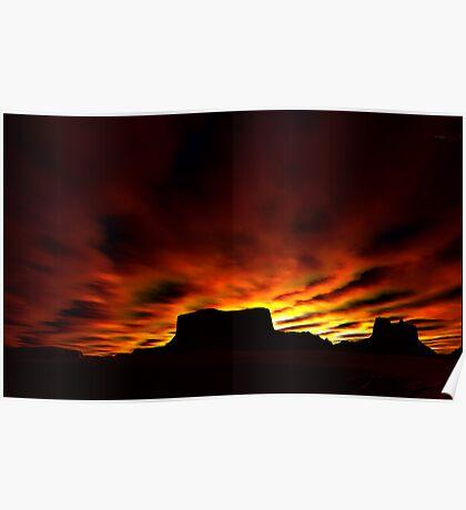 Desert Silhouettes Poster