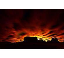 Desert Silhouettes Photographic Print