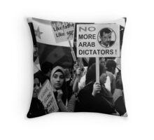 No More Dictators Throw Pillow