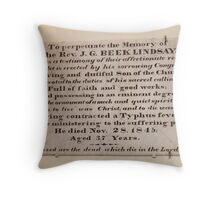 The Rev. J.G. Beek Lindsay Throw Pillow