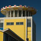 Clarence Pier (or Kingfisher Blue & Custard Yellow) by Chris Corney