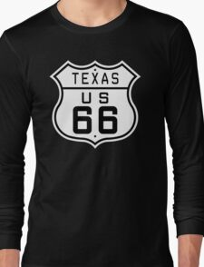 Texas Route 66 Long Sleeve T-Shirt