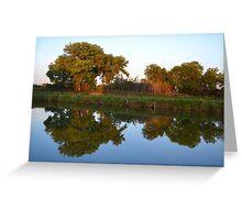 Reflections at Sunset Greeting Card