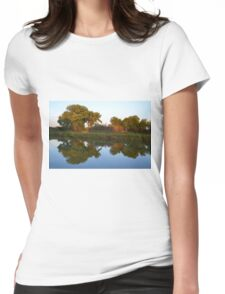 Reflections at Sunset Womens Fitted T-Shirt